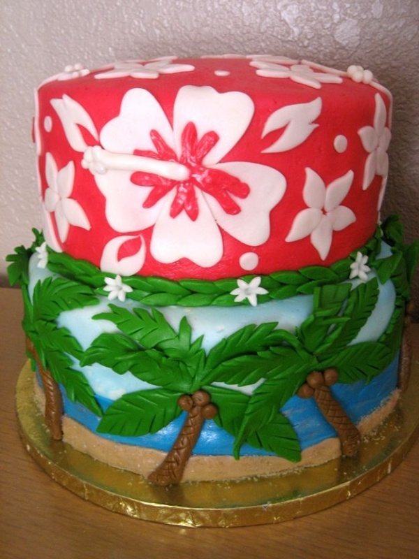 Happy Birthday Michelle Hawaiian Cake