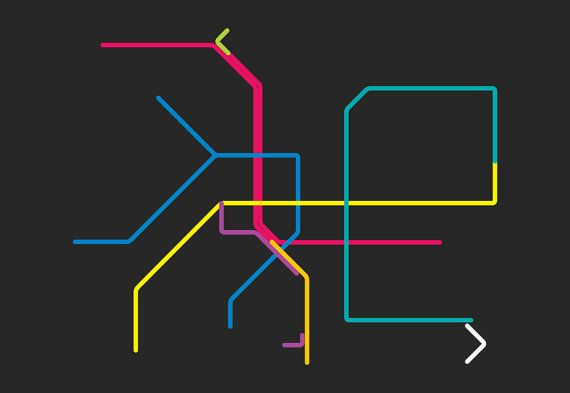 taipei metro line map 4'X6' by LiveitupS2 on Etsy, $1.50