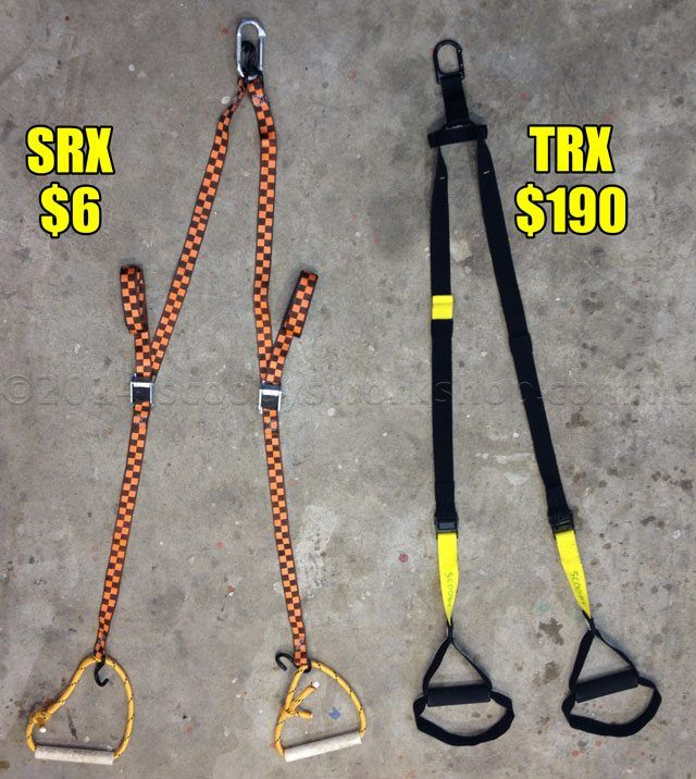 I found a DIY tutorial on how to make a TRX home suspension for 6$ vs the TRX price of 200$+!