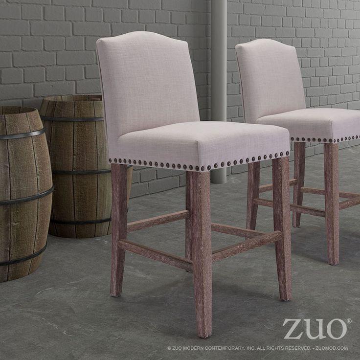Pasadena Beige Bar Chair By Zuo Modern