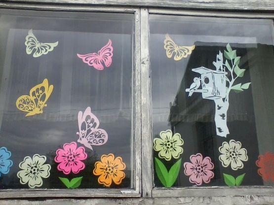 Украшение окна к лету. Новые идеи - Для воспитателей ...