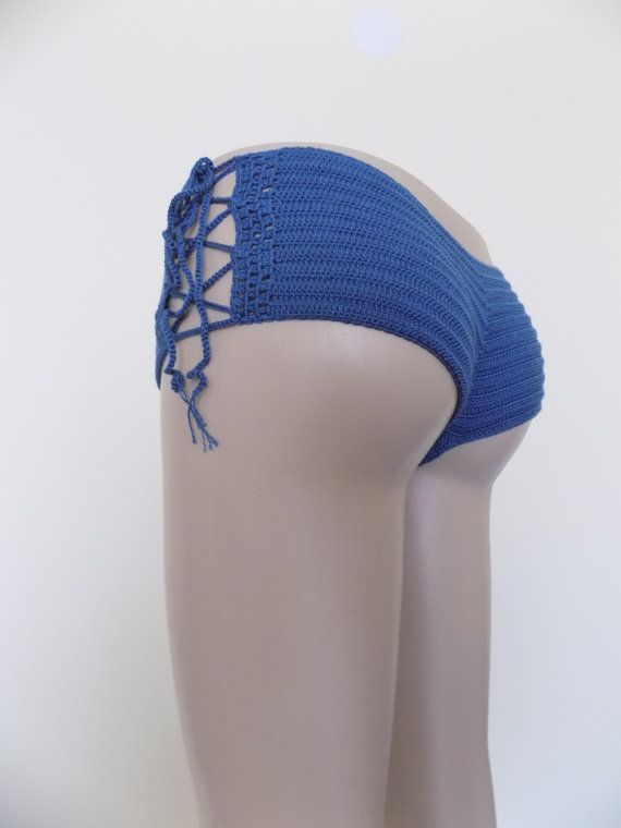 Crochet BottomBikini BottomCheeky by cheerfulboutique on Etsy