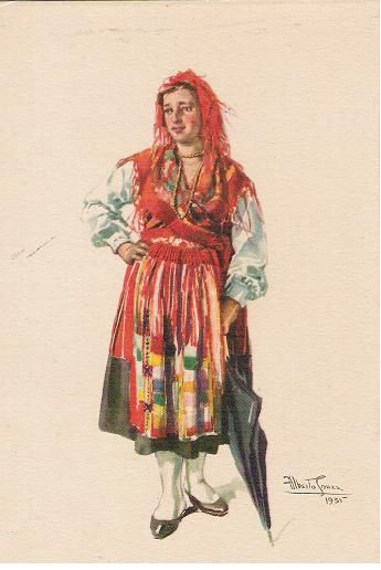 Traditional dress from Lavradeira do Minho, Portugal