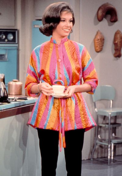 """I had Laura wear pants,"" #MaryTylerMoore explained of her famous cigarette-style slacks, ""because I said, 'Women don't wear full-skirted dresses to vacuum in.'"" http://www.instyle.com/instyle/package/general/photos/0,,20396039_20476958_20929173,00.html"