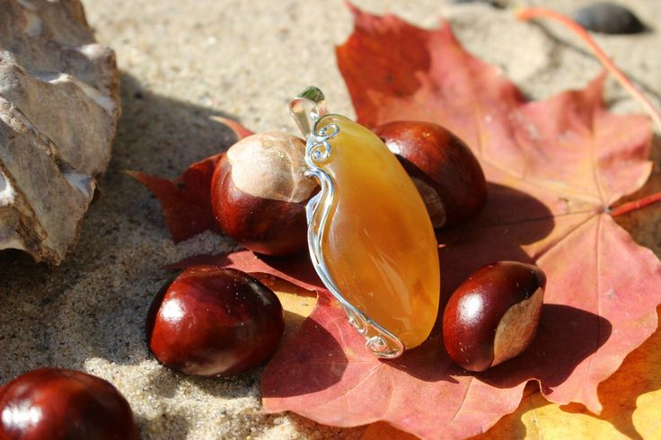 Handmade  Yellow Baltic Amber Pendant-Poland by MagsAmber on Etsy