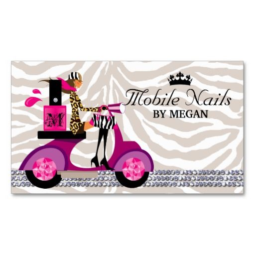 Fashion business cards nails nail business cards salon scooter
