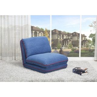 Irvine Royal Blue Convertible Chair Bed | Overstock.com Shopping - The Best Deals on Living Room Chairs
