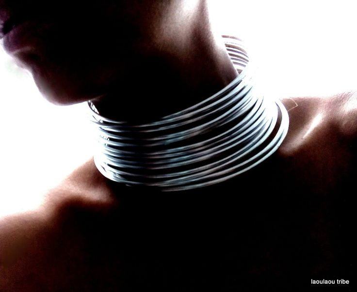Silver or Gold Tribal African Coil, African Neckrings, Statement Necklace, Traditional https://www.etsy.com/shop/LaouLaou?ref=hdr_shop_menu
