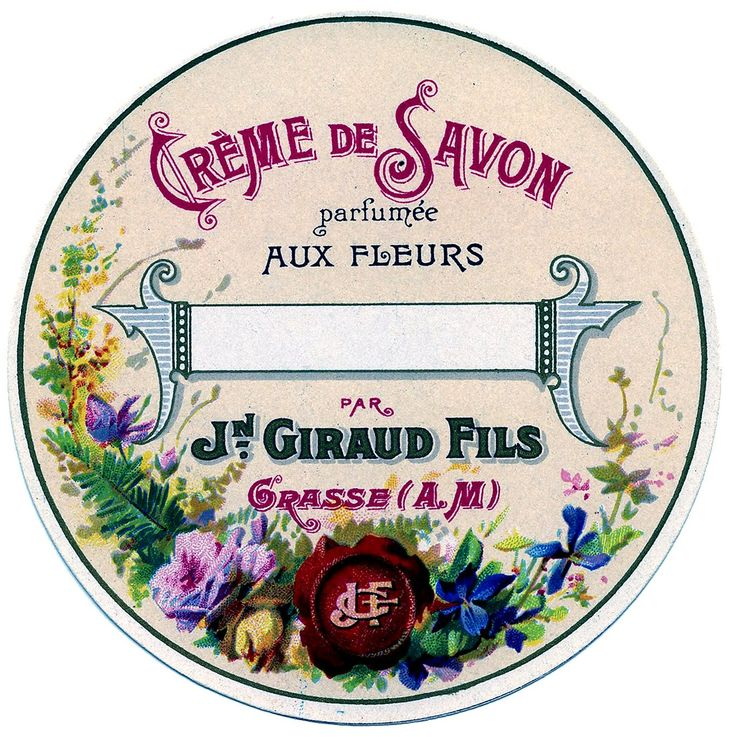 Vintage Graphic Image - Round French Soap Label - The Graphics Fairy