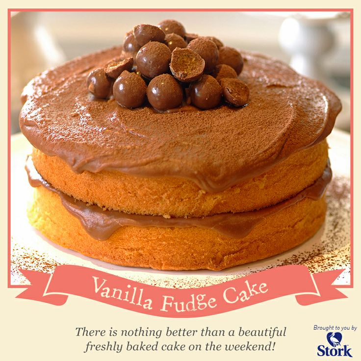 Vanilla fudge cake #recipe