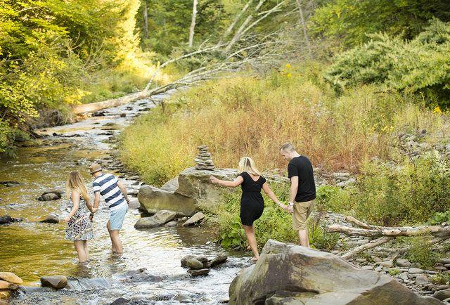 Take a hike. A super romantic hike, that is. Catskills weekend getaways.