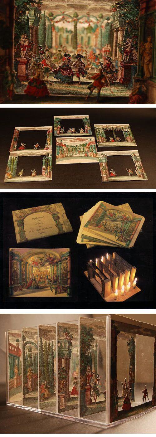 Paper Theater  ::  18th century dioramas  ( http://agraphiablog.blogspot.ca/2010/04/paper-theaters.html )
