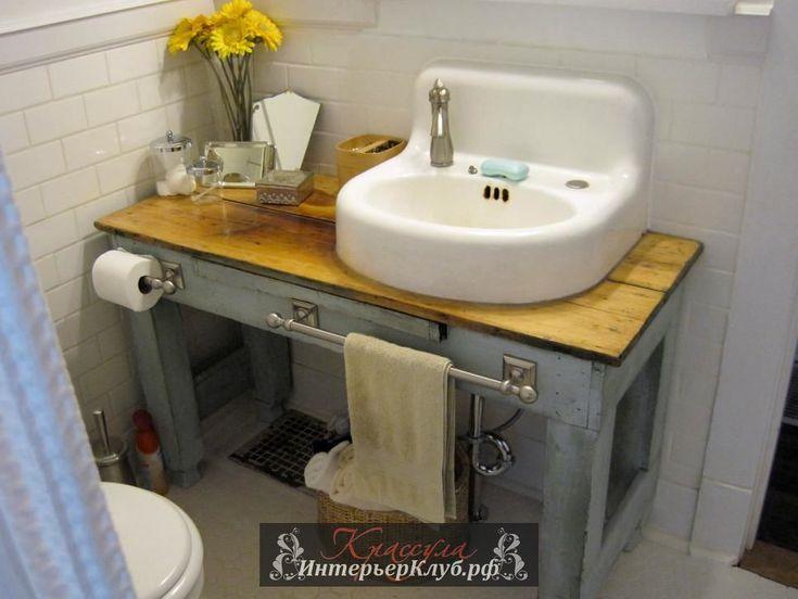 30 Мебель в ванную из старой мебели своими руками - переделка из старого промышленного стола