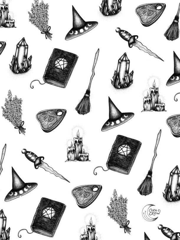Discovered By Daydreamerxbelieve Find Images And Videos About Background Halloween And Witch On We Heart Witch Wallpaper Book Of Shadows Halloween Wallpaper