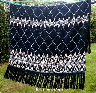 Swedish Weave Embroidery which is made by weaving floss through the loose composition of Monks Cloth.