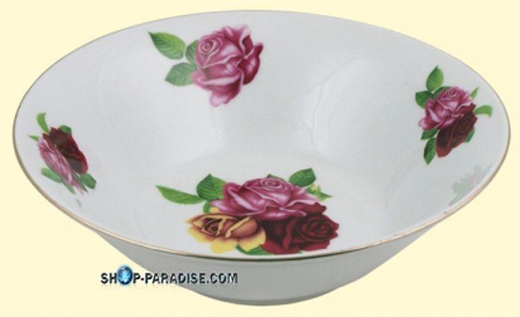 SHOP-PARADISE.COM:  Porzellan Suppenteller Set 6 St. Englischer Strauss 9,24 €