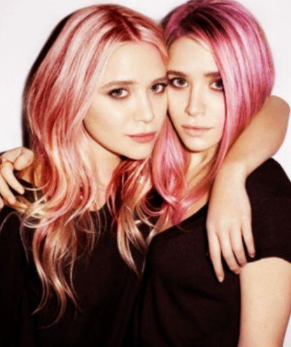 <3 The Olsens' pastel hair