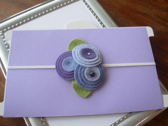 Wool felt flower headbands