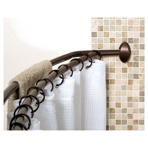 Zenna Home Neverrust Double Curved Shower Rod Heritage Bronze