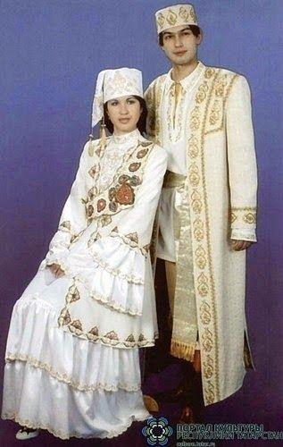 Tatary Wedding Costume from Astrakhan, East Russia - татарский - Татарстан