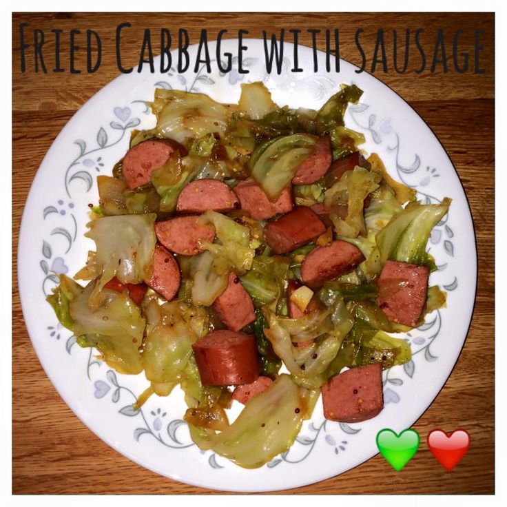 Di's Food Diary 21 Day Fix Approved Dinner Recipe = Fried Cabbage With Sausage