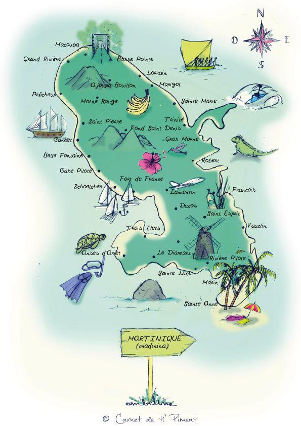 Il y a quelques temps, j'ai contacté mon amie Ombeline pour un petit projet concernant mon blog : réaliser une carte de la Martinique ! Il faut dire que l'ancienne était un simple scan tirée d'un g...