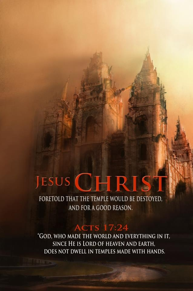 ACTS 17:24 / Bible In My Language He predicted that the temple would not only be destroyed but He could rebuild it in 3 days. Which was in those days preposterous because of how elaborate these buildings were but He then died and rose in 3 days....JESUS IS THE TRUE TEMPLE!!!!!!!!!!
