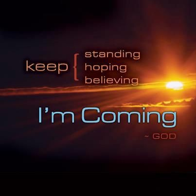 .Hes coming very soon..