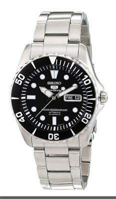 Seiko 5 Black Dial Stainless Steel Automatic Mens Watch SNZF17   $147.06 & FREE Shipping.