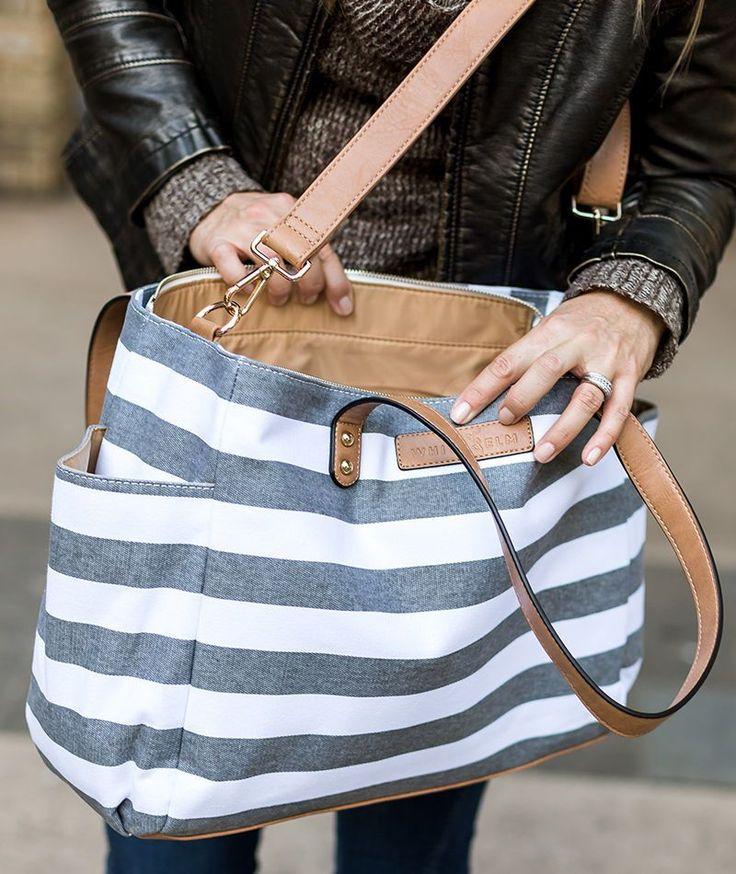 Grey Stripe Tote Bag von White Elm – wasserabweisendes Futter für einen tollen …