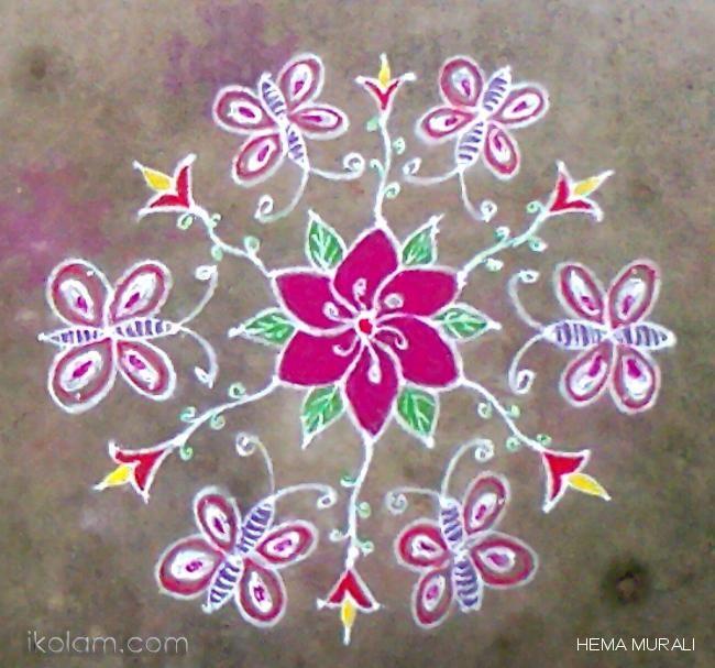 Rangoli Kaanum pongal rangoli Dotted Kolam (connected dots)   www.iKolam.com