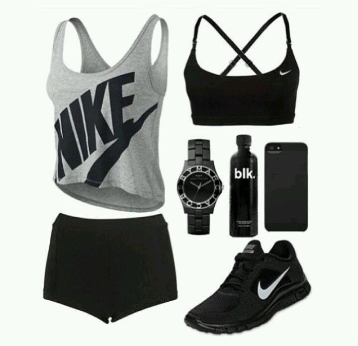 Black fitness outfit