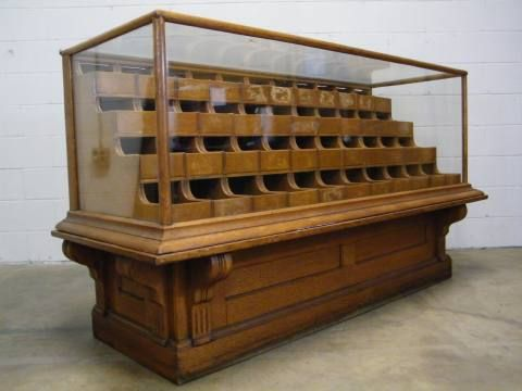 architectural salvage Victorian two piece oak store display bin case - 86 Best Vintage Store Display Case Counter Images On Pinterest