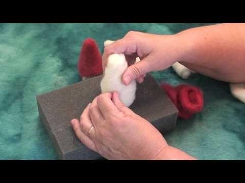 How to Needle Felt a Gnome: Part 2 by Sarafina Fiber Art - YouTube