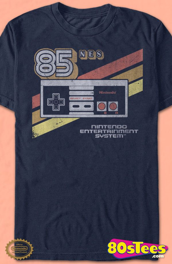 Retro Controller Nintendo T-Shirt: Nintendo Mens T-Shirt Nintendo Geeks:  Every day can be special wearing this cool design with great art and illustration.