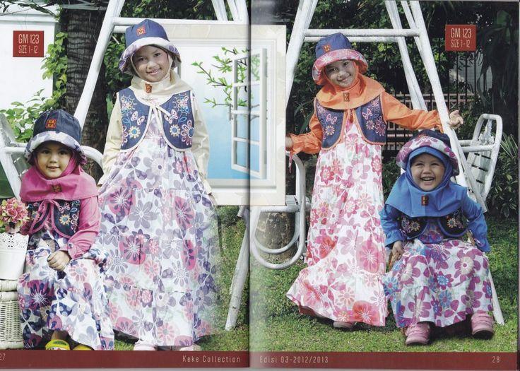 #Gamis #anak terlaris motif bunga