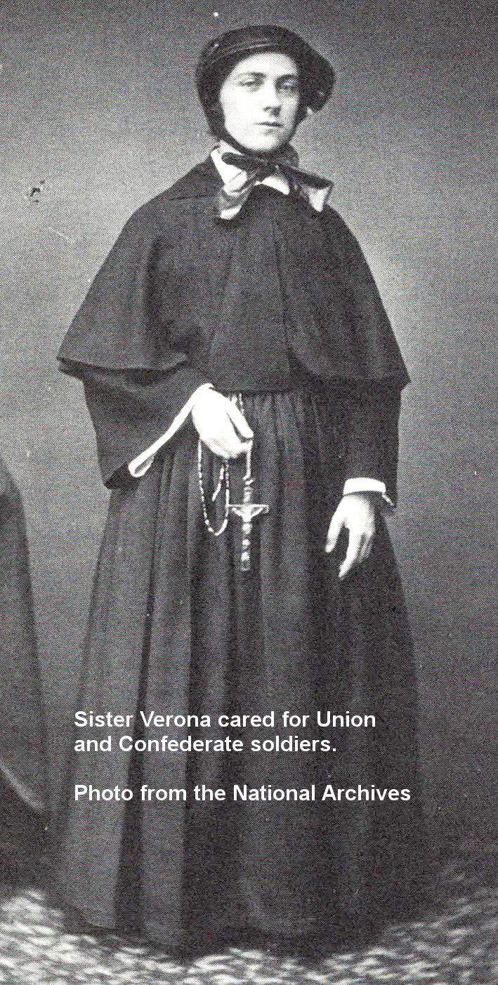 Civil War surgeons preferred Catholic nuns as nurses because of prior nursing experience and quiet demeanors