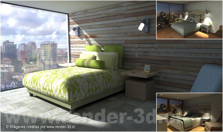 Diseño interior habitación.