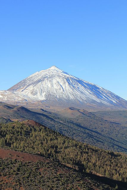 UNESCO World Heritage Site - Teide National Park features Teide Volcano, on Tenerife, Canary Islands, Spain.
