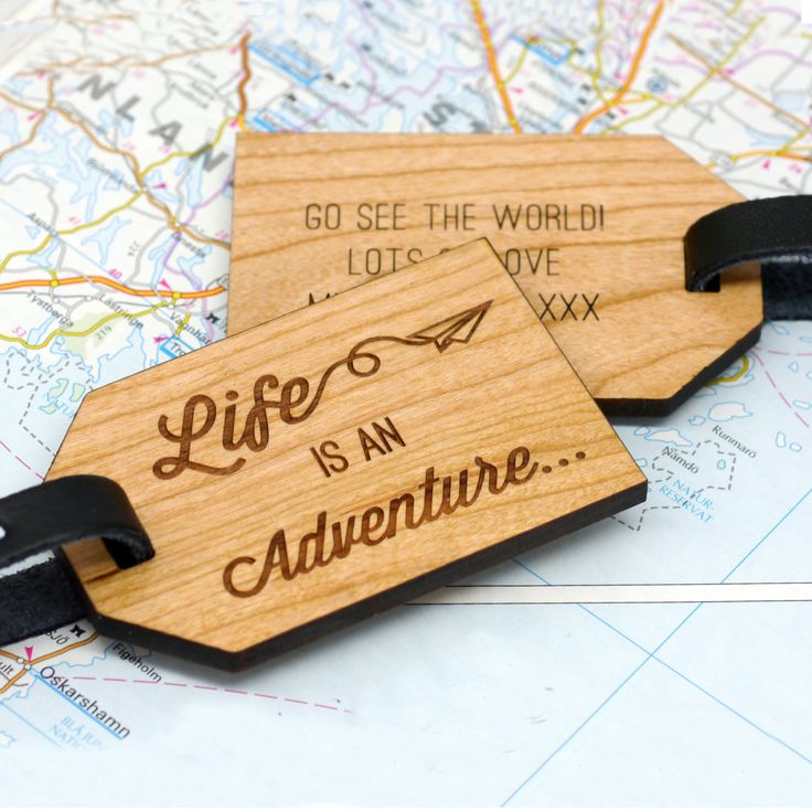 Personalised Luggage Tag Travel Quote Tag Personalized