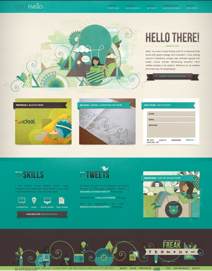 unique web design carol rivello metapixusion webdesign design http