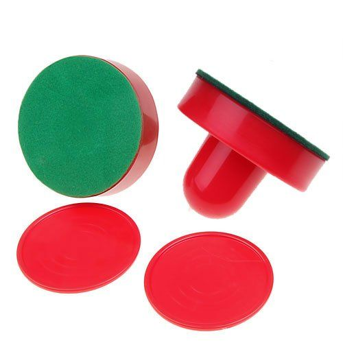 ELOS-Classico Gioco Air Hockey 2 PcsTable Pucks E 2 Pz Felt Pusher Mallet Grip Per Intrattenimento Gioco Da Tavolo