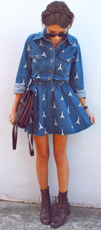 Cute #denim #dress