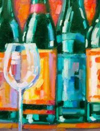 Schilderij wijn