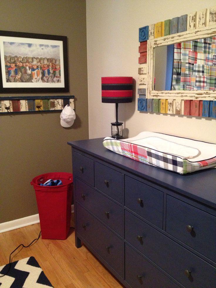 Pottery Barn Madras with Ikea Hemnes in blue Jacks room Pinterest Colors, Nurseries and Love