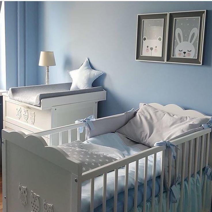 "337 Likes, 1 Comments - @mini_inspirasjon on Instagram: ""Baby blue 💙 by @dolly_shop_  #love #boysroom #gutterom #girlsroom #jenterom #interiør #inspo…"""