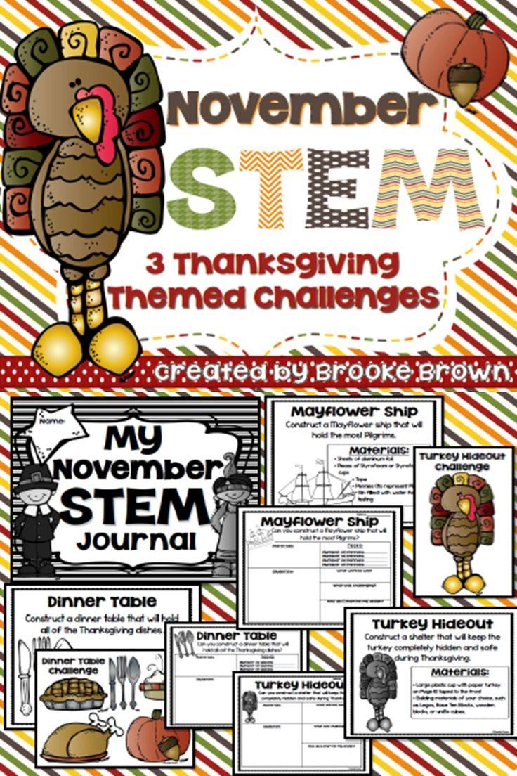 November STEM Challenges for Elementary Students!