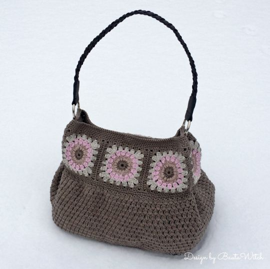 Crochet Work Bags : Pattern, free and easy to work Crochet handbag Crochet Handbags ...