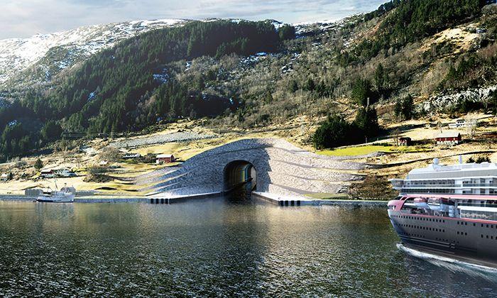 Snøhetta postaví v Norsku první tunel pro velké lodě