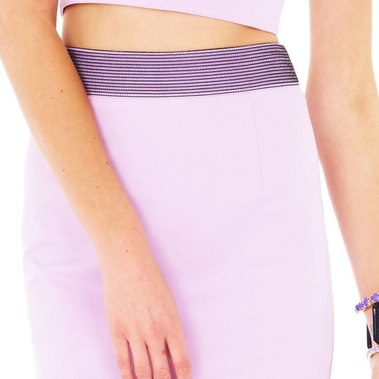 Minty Meets Munt - Lilac Feeling Tropical High Waist Midi Skirt